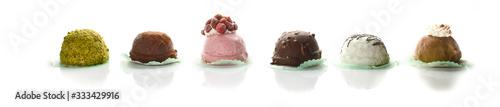 Fotografie, Obraz Pasticceria monoporzioni gelato