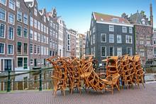 Empty Terraces In Amsterdam Ne...