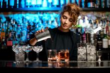 Young Woman Barman Preparing C...