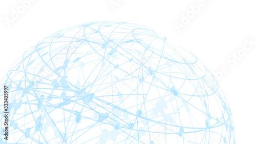 Fotomural 5GネットワークサイバーコミュニケーションITイメージ背景