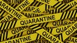 Quarantine yellow stripe transition chroma key.