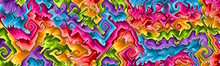 Colorful Panoramic Abstract Ba...