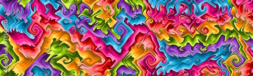 Colorful panoramic abstract background. Website header with copyspace.
