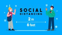 Social Distancing Concept Vect...