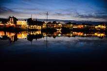 Waterfront Of Volendam At Nigh...