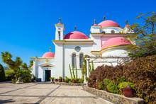 Capernaum. Snow-white Church