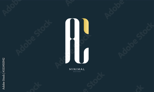 Photo alphabet letter icon logo AC