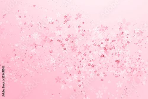 Fototapeta 桜の春イメージ背景 obraz na płótnie