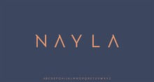 Nayla, Luxury Modern Font Alphabetical Vector Set