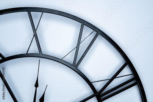 Photo Simple style wall clock with woman number, On ten.