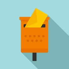 Old Mailbox Icon. Flat Illustration Of Old Mailbox Vector Icon For Web Design