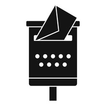 Old Mailbox Icon. Simple Illus...