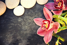 Spa Background With Orchid