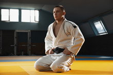 Young Judo Caucasian Fighter I...