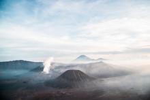 Smoky Sunrise Over Mount Bromo...