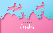Happy Easter Colorful Paper Cu...