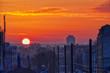 Sonnenaufgang im Ruhrgebiet in Duisburg Hochfeld