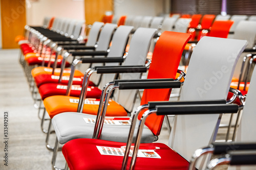 Empty chairs in Conference hall for Corporate Convention or Lecture Canvas Print