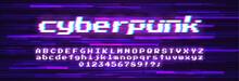 Glitch Vector Font. Symbol Of ...