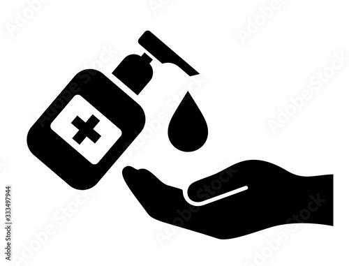 Fotomural Wash your hands vector sign