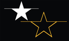 Star Vector Design Art Colored...