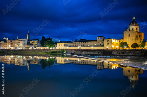 Arno River in Florence at Night Canvas Print