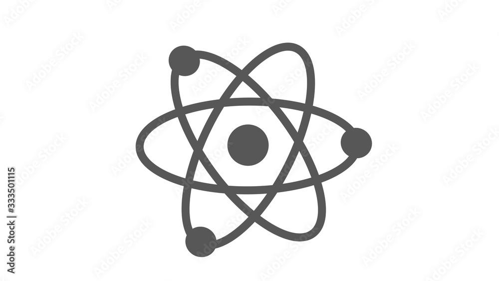 Fototapeta Amazing atom icon on white background,Atom icon,New atom icon