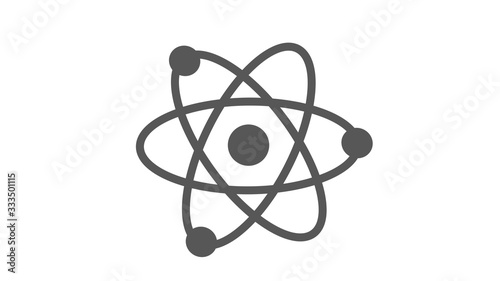 Amazing atom icon on white background,Atom icon,New atom icon Canvas Print