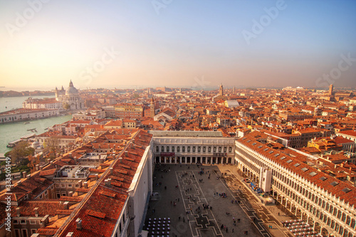 Venice,Italy. Aerial  view from San Marco Campanile. Wallpaper Mural