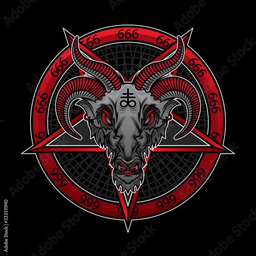 baphomet demon 666 фототапет