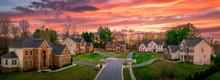 Neighborhood Street Sunset Pan...