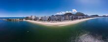 Aerial 180 Degrees Panorama Of...