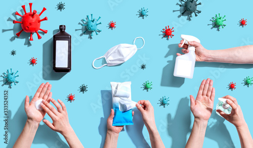 Fotografie, Obraz Prevent virus and germs - healthcare and hygiene concept