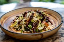 Exotic Salad Prepared With Cri...
