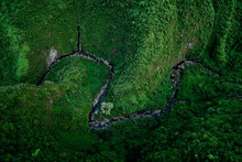 Maui Forest Valley Hawaiin Island Aerial View