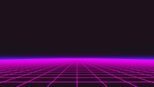 Synthwave Wireframe Net 1980s ...