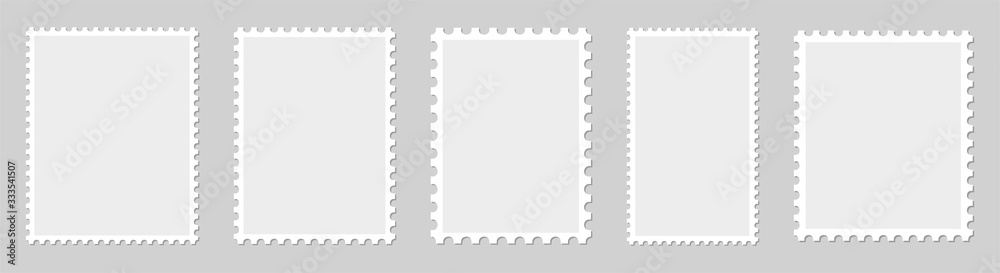 Fototapeta Postage stamp borders set vector