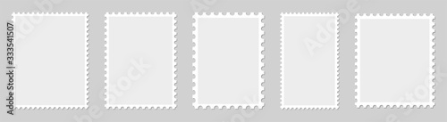 Leinwand Poster Postage stamp borders set vector
