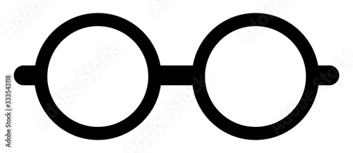 Round glasses or reading eyeglasses for apps and websites Canvas Print
