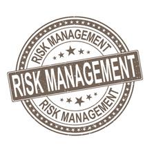 Risk Management. Stamp. Sticker. Seal. Round Grunge Vintage Ribbon Risk Management Sign