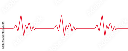 Heartbeat line, Pulse trace, ECG or EKG Cardio graph symbol for Healthy and Medi Fototapeta
