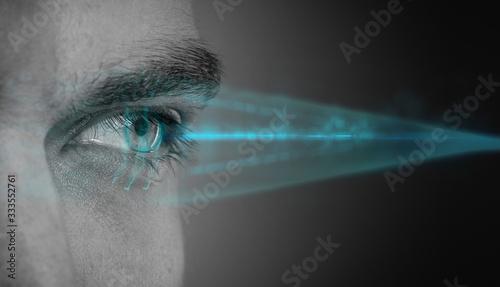 Foto biometric eye retina scan concept