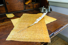 Document On A Writing Desk Wit...