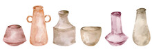 Collection Of Clay Pottery Iso...