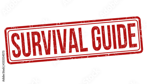 Survival guide grunge rubber stamp Canvas Print