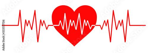 Photo Heart Beat Line Illustration