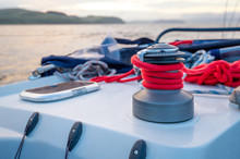 Sailing Boat Winch With New Br...