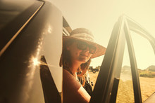Woman In Summer Car And Free S...