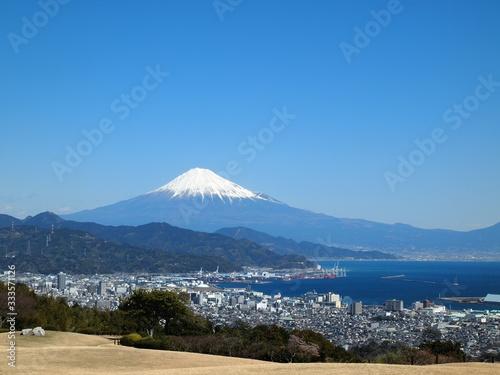 Obraz na plátně 〈静岡〉富士山と清水港(Mt.fuji from shizuoka)
