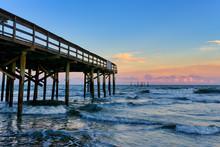 Hurricane Damaged Pier On The ...